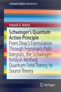 Cover Schwinger's Quantum Action Principle