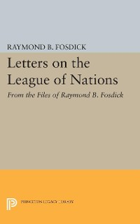 Cover Letters on the League of Nations