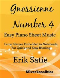 Cover Gnossienne Number 4 Easy Piano Sheet Music
