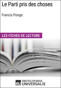 Cover Le Parti pris des choses de Francis Ponge