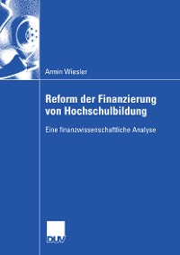 Cover Reform der Finanzierung von Hochschulbildung