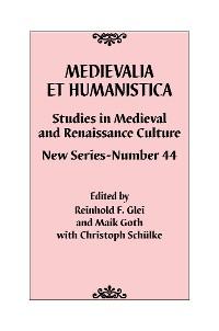 Cover Medievalia et Humanistica, No. 44