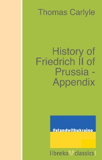 Cover History of Friedrich II of Prussia - Appendix