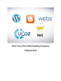 Cover Start Your Own Web Hosting Company