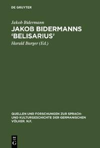Cover Jakob Bidermanns 'Belisarius'