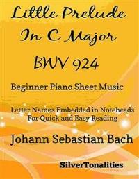 Cover Little Prelude in C Major BWV 924 Beginner Piano Sheet Music