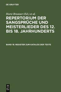 Cover Register zum Katalog der Texte