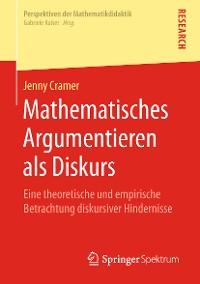 Cover Mathematisches Argumentieren als Diskurs
