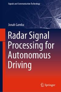 Cover Radar Signal Processing for Autonomous Driving