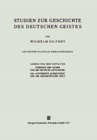 Cover Studien zur Geschichte des Deutschen Geistes