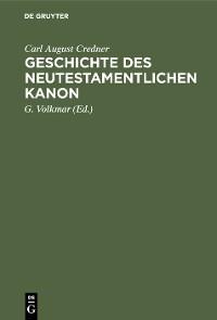 Cover Geschichte des neutestamentlichen Kanon