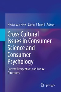 Cover Cross Cultural Issues in Consumer Science and Consumer Psychology