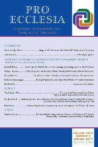 Cover Pro Ecclesia Vol 26-N2