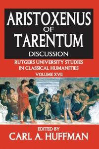 Cover Aristoxenus of Tarentum