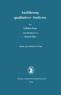 Cover Ausfuhrung qualitativer Analysen