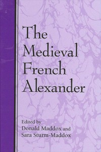 Cover Medieval French Alexander, The