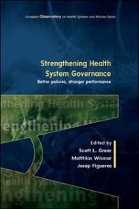 Cover EBOOK: Strengthening Health System Governance: Better policies, stronger performance