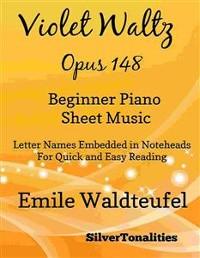 Cover Violet Waltz Opus 148 Beginner Piano Sheet Music