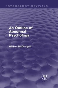 Cover Outline of Abnormal Psychology