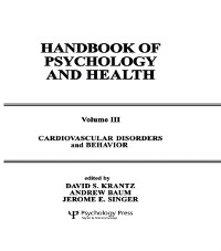 Cover Cardiovascular Disorders and Behavior