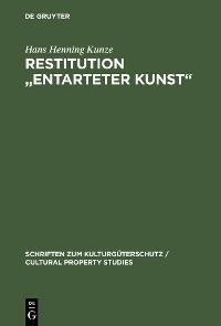 """Cover Restitution """"Entarteter Kunst"""""""