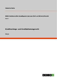Cover Kreditvertrags- und Kreditsicherungsrecht