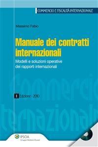 Cover Manuale dei contratti internazionali