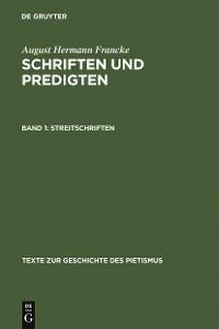 Cover Streitschriften