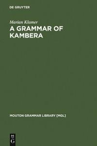 Cover A Grammar of Kambera