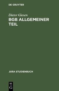 Cover BGB Allgemeiner Teil