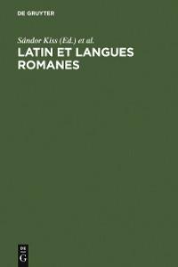Cover Latin et langues romanes