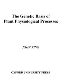 Cover Genetic Basis of Plant Physiological Processes