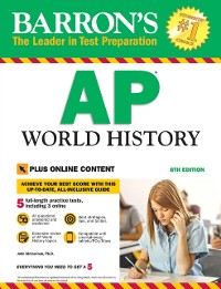 Cover Barron's AP World History with Online Tests