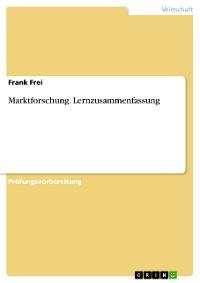 Cover Marktforschung. Lernzusammenfassung