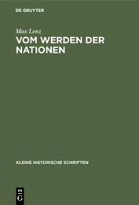 Cover Vom Werden der Nationen