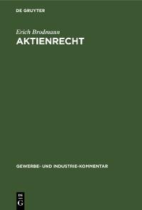 Cover Aktienrecht