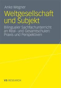 Cover Weltgesellschaft und Subjekt