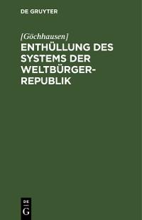 Cover Enthüllung des Systems der Weltbürger-Republik
