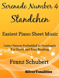 Cover Serenade Standchen Number 4 Easiest Piano Sheet Music