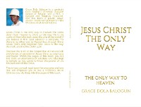 Cover Jesus Christ The Only Way