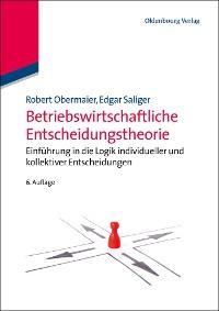 Cover Betriebswirtschaftliche Entscheidungstheorie