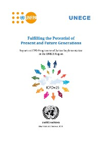 Cover Report on ICPD Programme of Action Implementation in the UNECE Region
