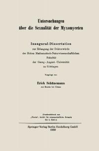 Cover Untersuchungen uber die Sexualitat der Myxomyceten