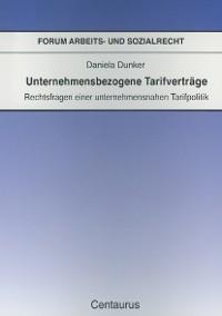 Cover Unternehmensbezogene Tarifverträge
