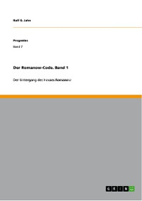 Cover Der Romanow-Code. Band 1