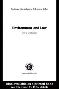 Cover Environment and Law
