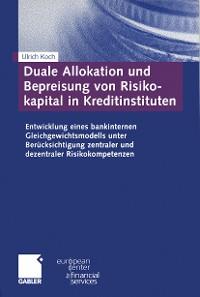 Cover Duale Allokation und Bepreisung von Risikokapital in Kreditinstituten
