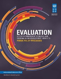 Cover Evaluation of the Contribution of UNDP Global and Regional Human Development Reports to the Public Policy Process
