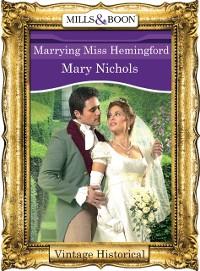 Cover Marrying Miss Hemingford