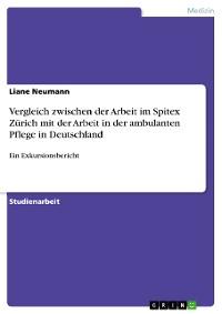 Cover Vergleich zwischen der Arbeit im Spitex Zürich mit der Arbeit in der ambulanten Pflege in Deutschland